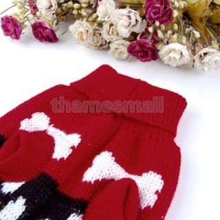 Dog Puppy Pet Knit Turtleneck Sweater Clothing Apparel