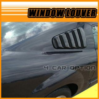 Ford Mustang 10 13 Side Window Louvers Painted HP Hi Performance White