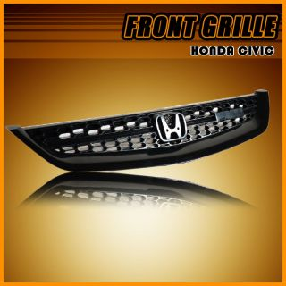 01 02 03 Honda Civic LX DX EX 2dr 4DR Type RS Black Mesh Grille Grill