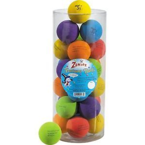 "Lot of 4 Zanies Fortune Balls Dog Toys Rubber Fetch Bounce Ball Pet 2"" Pet Toy"