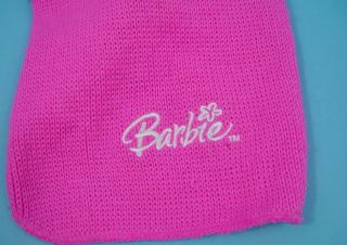 Barbie Dog Sweater Hot Pink w Faux Fur Collar Small