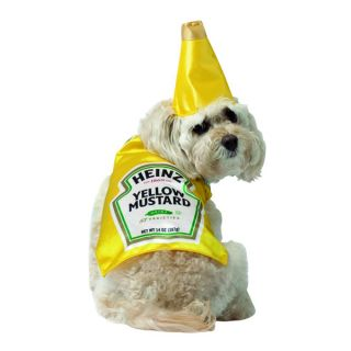 Heinz Mustard Classic Bottle Halloween Costume Pet Dog XSmall Small Medium