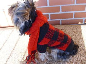 Yorkshire Terrier Hand Made Dog Sweater Clothing Deluxe