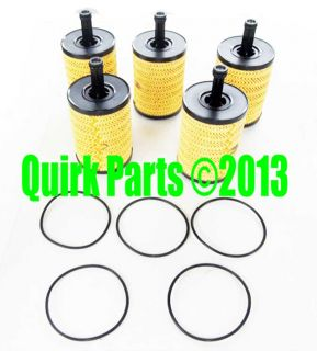 VW Volkswagen Oil Filter Set of 5 Replacements Jetta Beetle Golf CC Passat