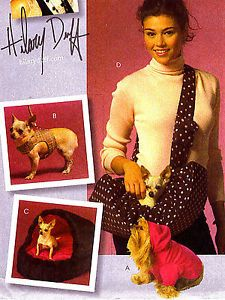 OOP Pet Dog Carrier Bed Sweater Vest Harness Leash Sewing Pattern McCalls 5514