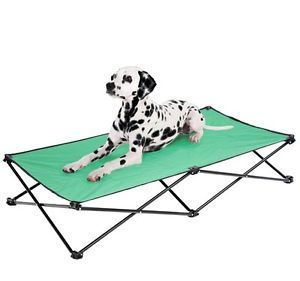 "Portable Folding 53"" Elevated Camping Pet Cot Portable Dog Cat Sleep Bed Green"