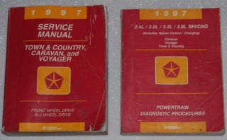 1997 Chrysler Town Country Grand Caravan Voyager Shop Service Manual 4 Vol Set