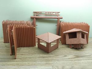Vintage Marx Toys Hard Plastic Fort Apache Play Set for Parts Pieces Fences Etc
