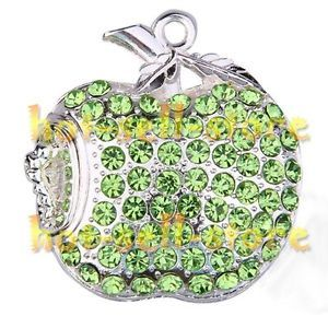 Green Apple Jewelry Crystal 16g 16GB USB Flash Memory Stick Drive New