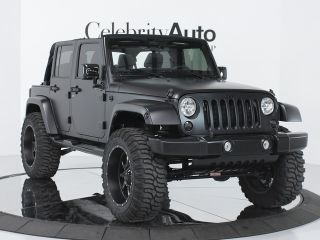 2012 Jeep Wrangler Unlimited Sahara 4x4 Blk Blk Automatic