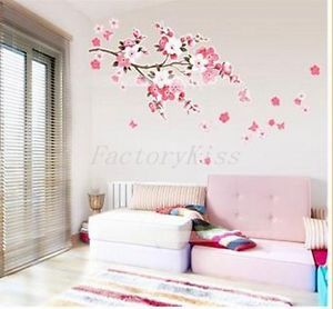 Sakura Flower Removable Wall Sticker Paper Mural Art Decal Home Decor