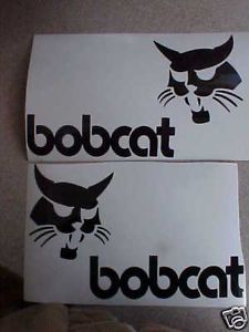 2 Bobcat Skid Steer Loader Arms Decals Vinyl Sticker