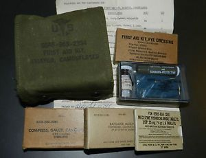 Original US Vietnam Military First Aid Kit Aviator Camouflaged Survival Aircrew