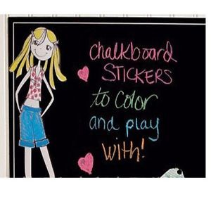 Chalk Board Blackboard Sticker Memo Art Removable Vinyl Wall Decal 5 Free Chalks