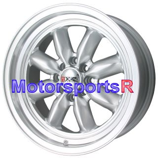 15 7 XXR 513 Silver Rims Wheels Deep Dish Stance 92 98 Honda Civic Hatch CRX SI