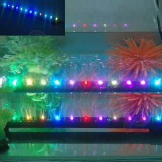 Amazing 6 12 18 LED White Blue Colorful Aquarium Fish Tank Strip Bubble Light