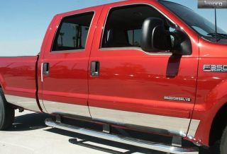 "99 10 Ford Super Duty Extended Cab Long Bed Rocker Panel Trim Moulding 6"" 12pc"