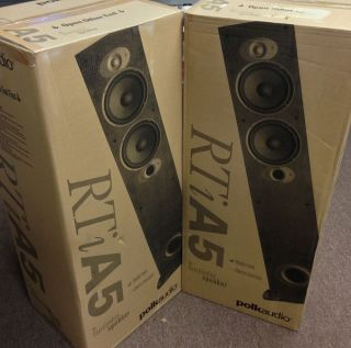 New Pair Polk Audio RTI A5 Home Theater Tower Floor Standing Speaker RTIA5 Black