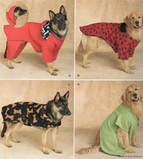 Simplicity 2303 Sewing Pattern Extra Large XL Size Dog Coats Rain Winter Fleece