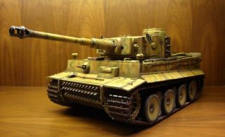 Custom 1 16 German Tiger 1 Early Production Camoflage RC Heng Long Battle Tank