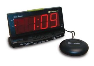 Clarity Ameriphone Wake Assure Super Loud Alarm Clock w Bed Shaker Hearing Loss