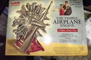 1962 Vintage Renwal Visible Airplane Engine Model Kit Pratt and Whitney Wasp
