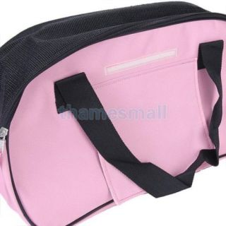 2X Pink Pet Dog Puppy Cat Carrier Tote Shoulder Bag Ventilated Mesh Style