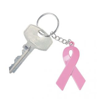 12 Breast Cancer Awareness Pink Ribbon Key Chains Find The Cure Survivor