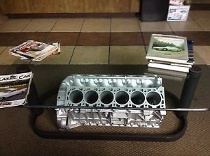 Mercedes Man Cave SL600 600SL S600 V12 Engine Industrial Art Deco Style Table
