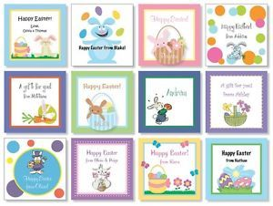24 Custom Personalized Easter Gift Cards Gift Bag Tags