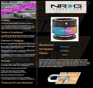 NRG Ball Lock Quick Release Hub Steering Wheel Hub NRG SRK 200BK MC Neo Chrome
