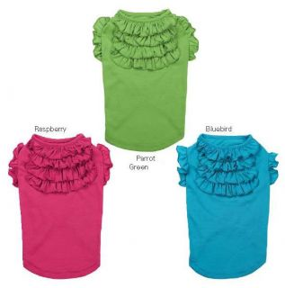 Tiered Ruffle T Shirt Pet Tee Shirt and or Peace Out Skirt Separates Ruffled