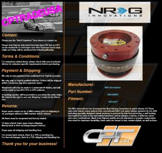 NRG Ball Lock Quick Release Hub Steering Wheel Hub NRG SRK 200RD