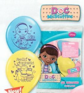 6 Doc Mcstuffin McStuffins Latex Birthday Party Balloons 12""