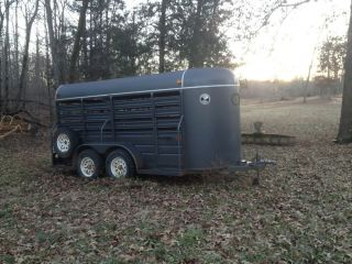 WW Grey 2 Horse Stock Trailer
