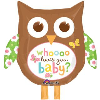 Whooo Loves You Owl Baby Shower Balloons Decorations Supplies Brown Neutral
