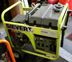 Sievert G12000 Portable Generator 10000 Watts Honda 20 0 V Twin Engine GX620