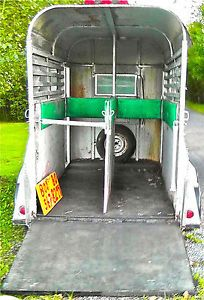 Two Horse or Motorcycle Enclosed Horse Trailer