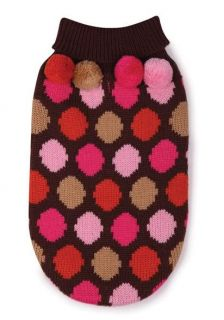 East Side Collection Spirit Polka Dot Pet Dog Knit Sweater XS s s M M L XL Top