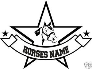 Quarter Horse Head Personalized Trailer Truck Decal 12""
