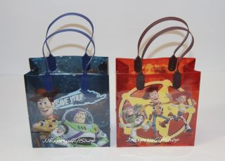 12 PC Disney Toy Story Goodie Bags Party Favor Bags Gift Bags Birthday Bags