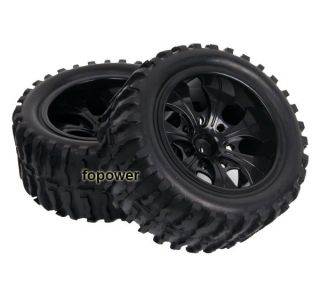 4pcs RC Rubber Sponge Tires Tyre Wheel Rim HSP 1 10 Monster Bigfoot Truck 88015