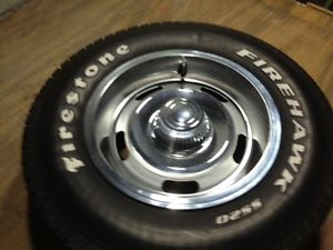 "Set of Chevy 14"" Rally Wheels with Tires Tires Nova Camaro Chevelle 4 75"