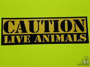 Warning Caution Live Animals Horse Trailer New Stickers