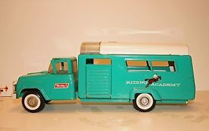 Vintage Buddy L Riding Academy Horse Trailer Truck