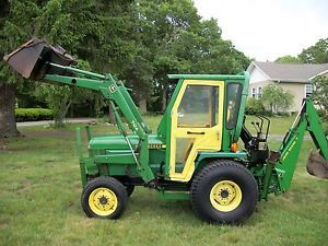 John Deere 955 Tractor Loader Backhoe 33 HP Diesel with Attachments Package Deal
