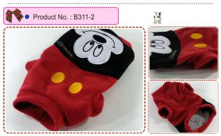 Dog Cat Clothes Shirts Disney Costume Mickey Minnie Thick Sweater B311