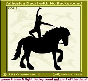 Equestrian Vaulting Horse Trailer Decal Sticker 613
