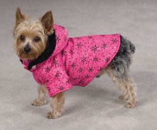 Zack Zoey Winter Wonderland Dog Coat Jacket Hooded