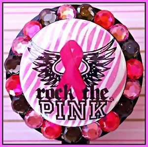 Breast Cancer Awareness Retractable ID Reel Badge Holder